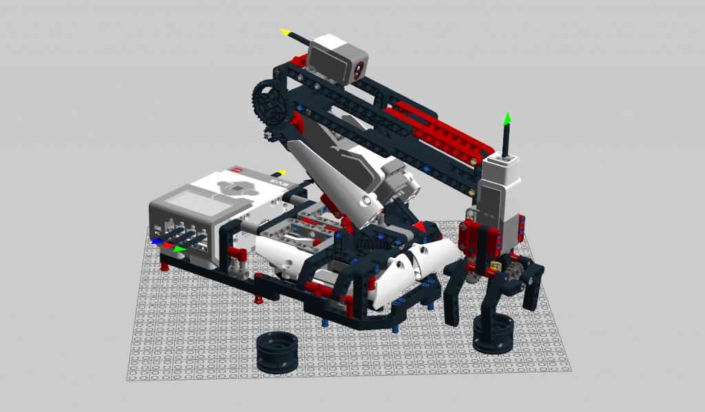 The H25 Robot Arm from the Mindstorms Education set build with the 31313 consumer version of Mindstorms.